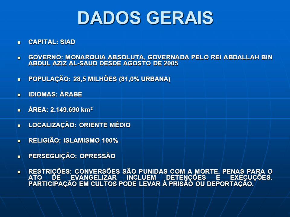 DADOS GERAIS CAPITAL: SIAD