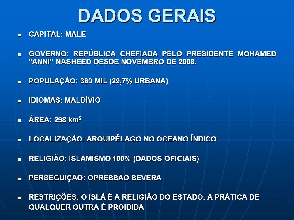 DADOS GERAIS CAPITAL: MALE