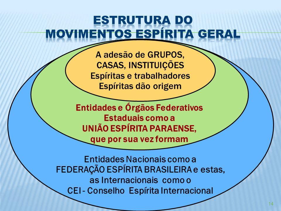ESTRUTURA DO MOVIMENTOS ESPÍRITA GERAL