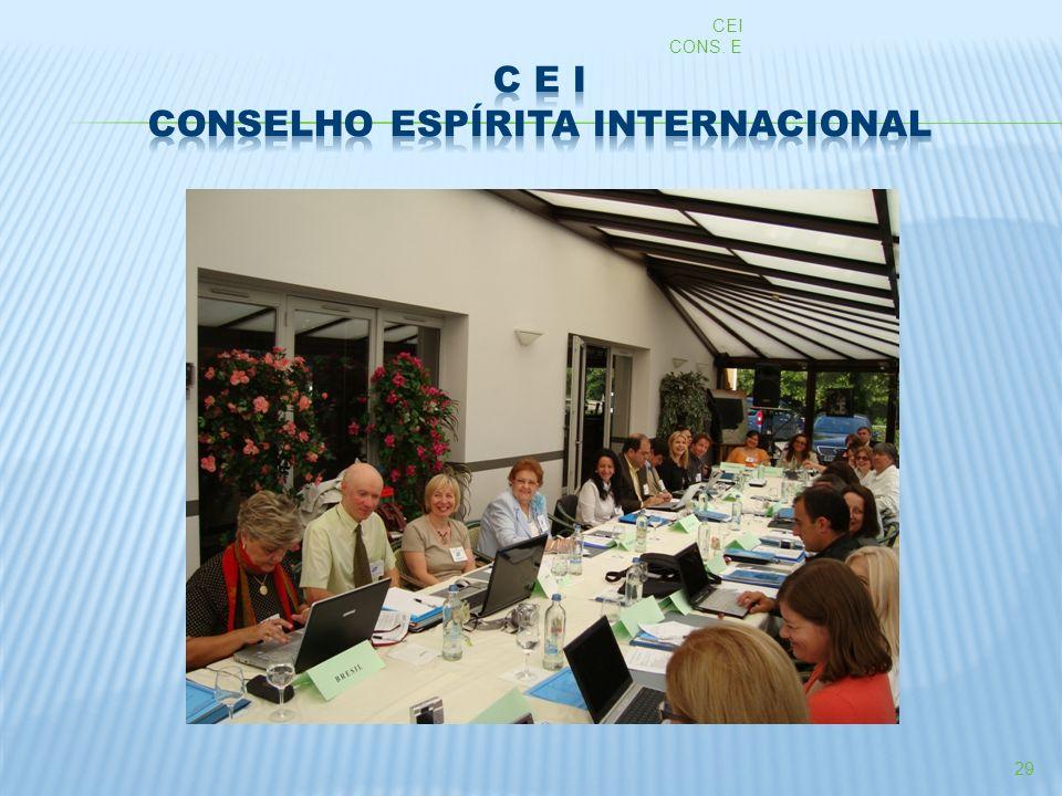 C E I CONSELHO ESPÍRITA INTERNACIONAL