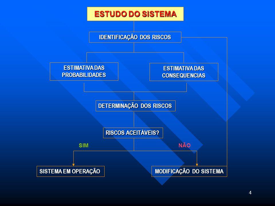 ESTUDO DO SISTEMA IDENTIFICAÇÃO DOS RISCOS