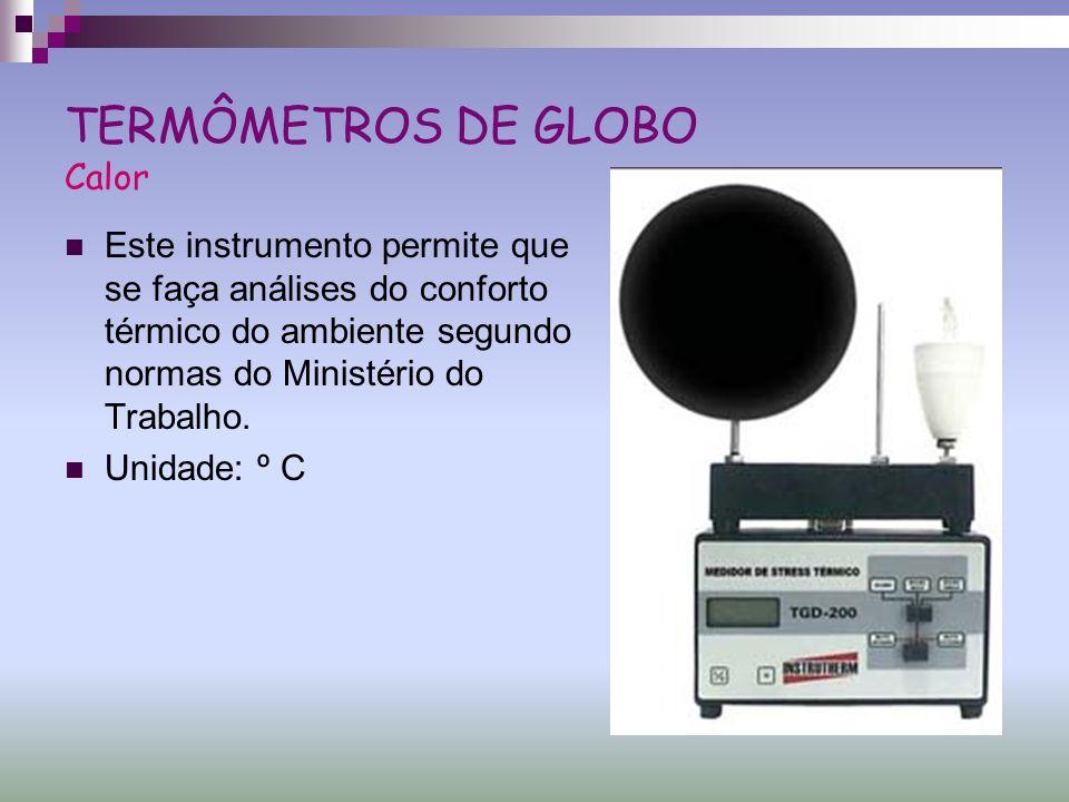 TERMÔMETROS DE GLOBO Calor