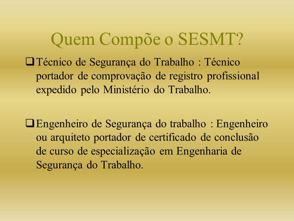 Quem Compõe o SESMT