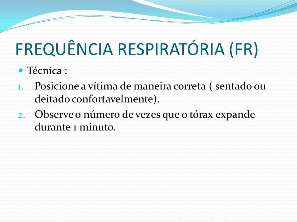 FREQUÊNCIA RESPIRATÓRIA (FR)