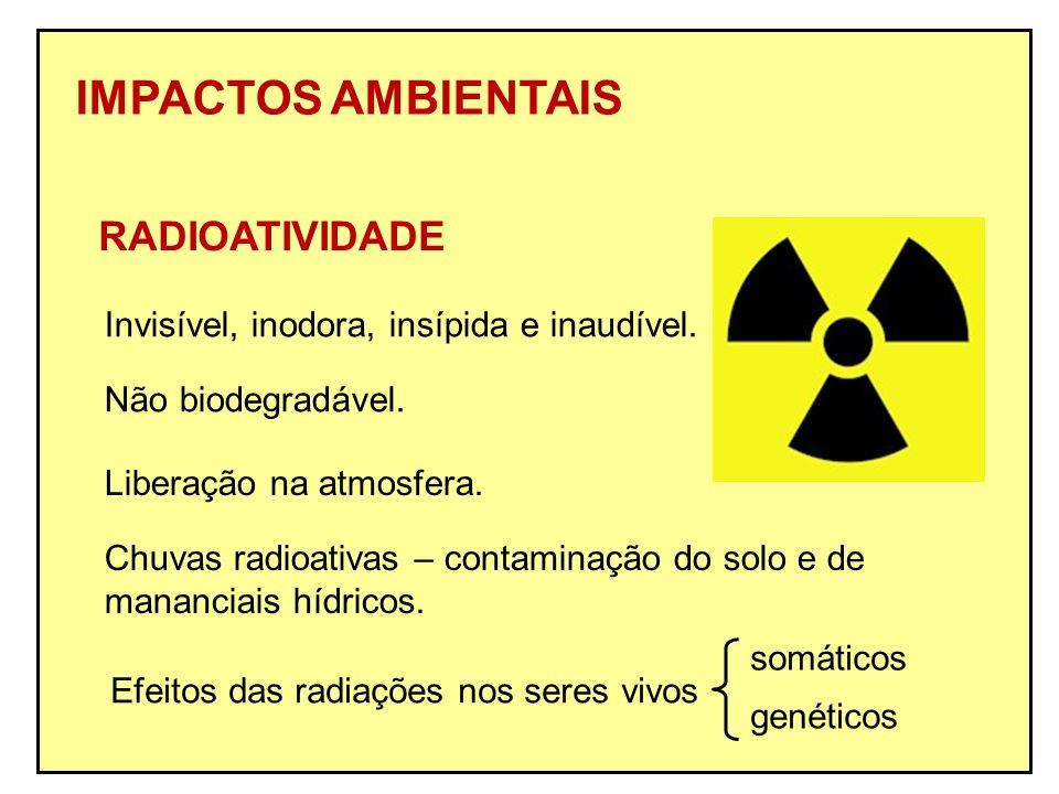 IMPACTOS AMBIENTAIS RADIOATIVIDADE