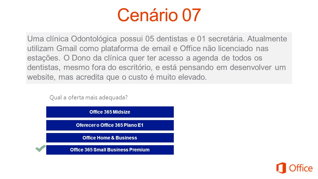 Oferecer o Office 365 Plano E1 Office 365 Small Business Premium
