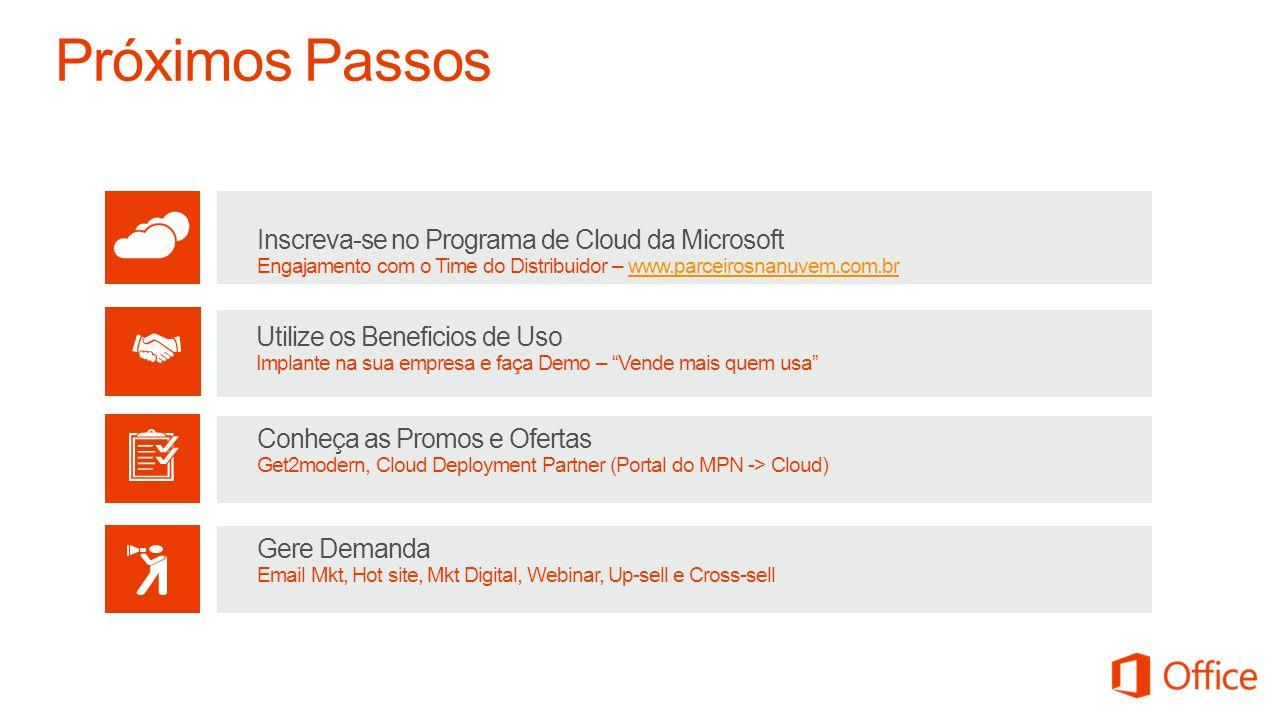 Próximos Passos Inscreva-se no Programa de Cloud da Microsoft