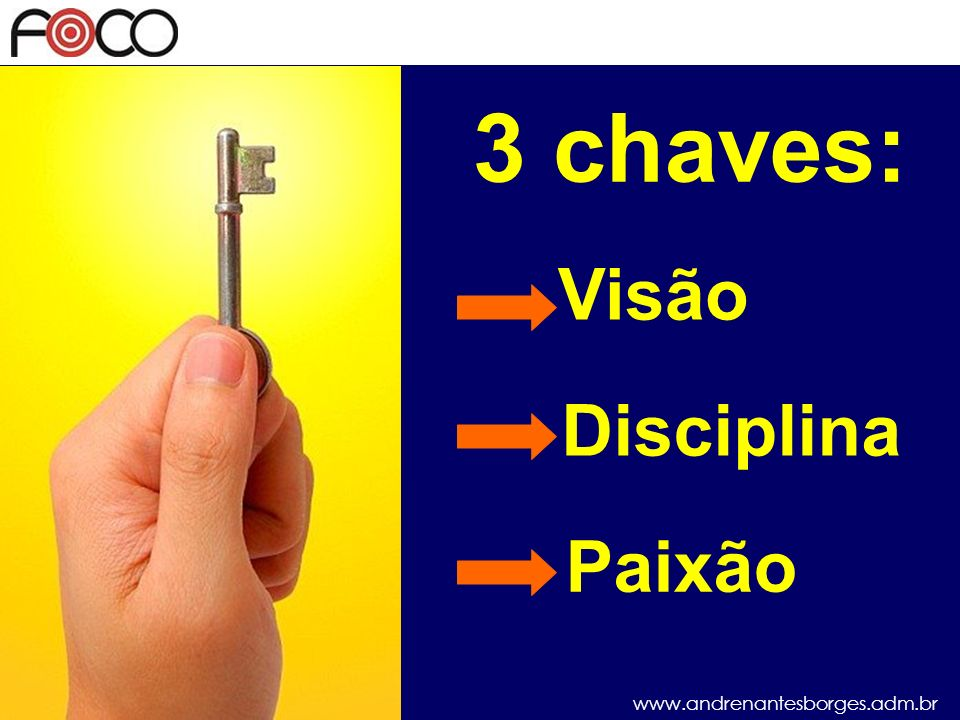 3 chaves: Visão Disciplina Paixão