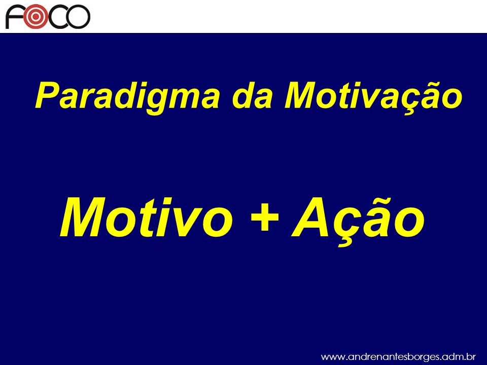 Paradigma da Motivação