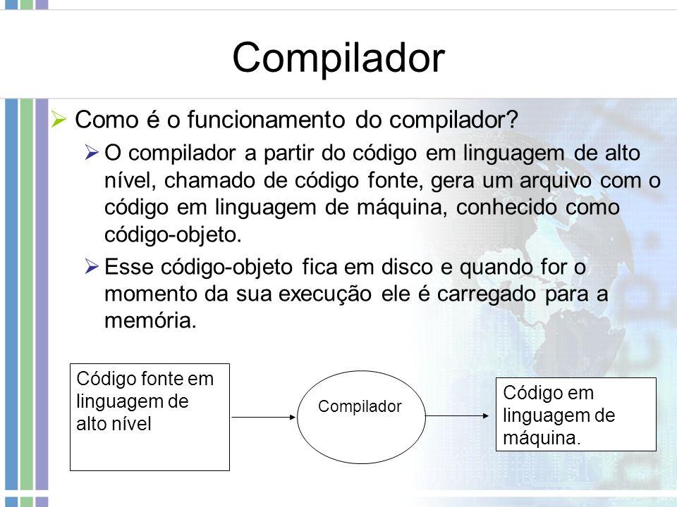 Compilador Como é o funcionamento do compilador