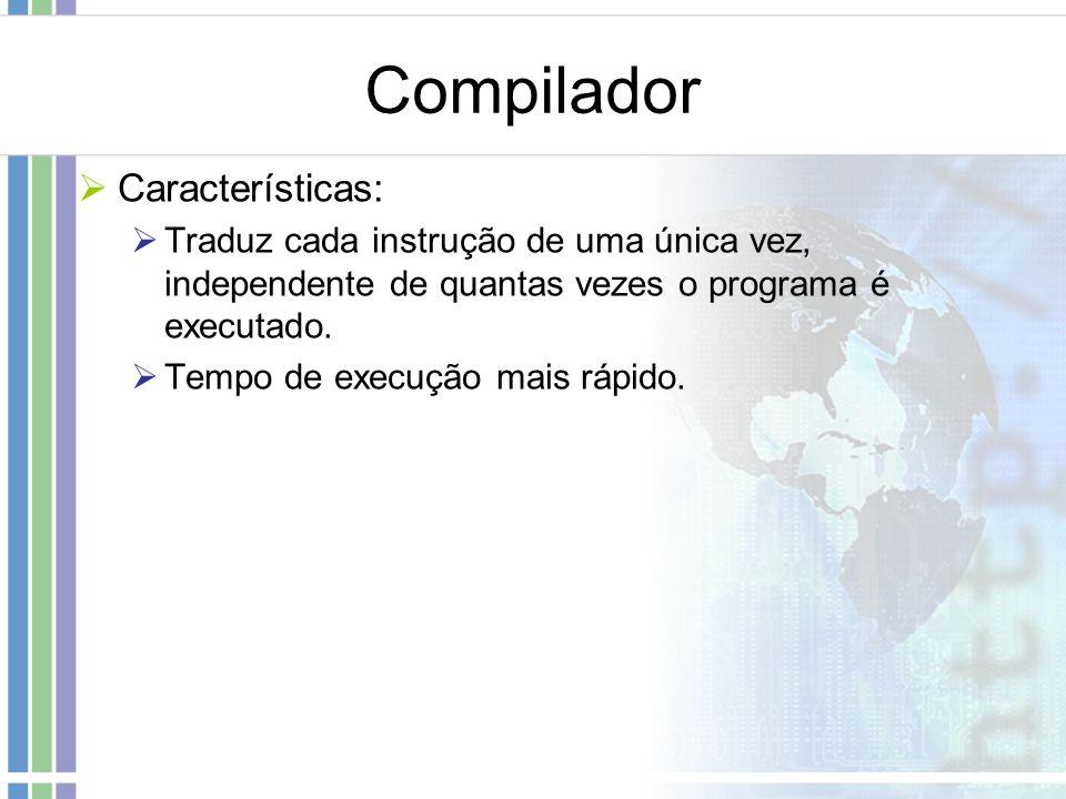 Compilador Características: