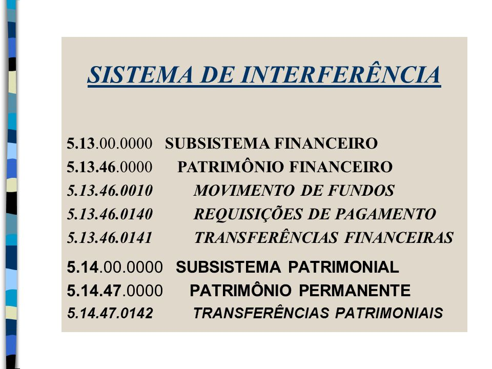 SISTEMA DE INTERFERÊNCIA