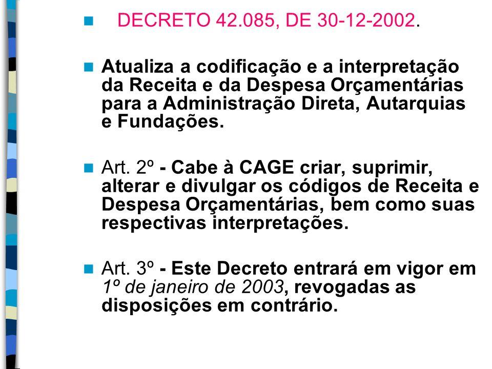 DECRETO 42.085, DE 30-12-2002.