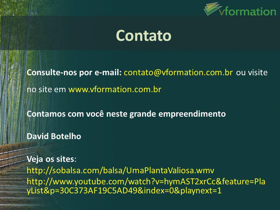 Contato Consulte-nos por e-mail: contato@vformation.com.br ou visite no site em www.vformation.com.br.