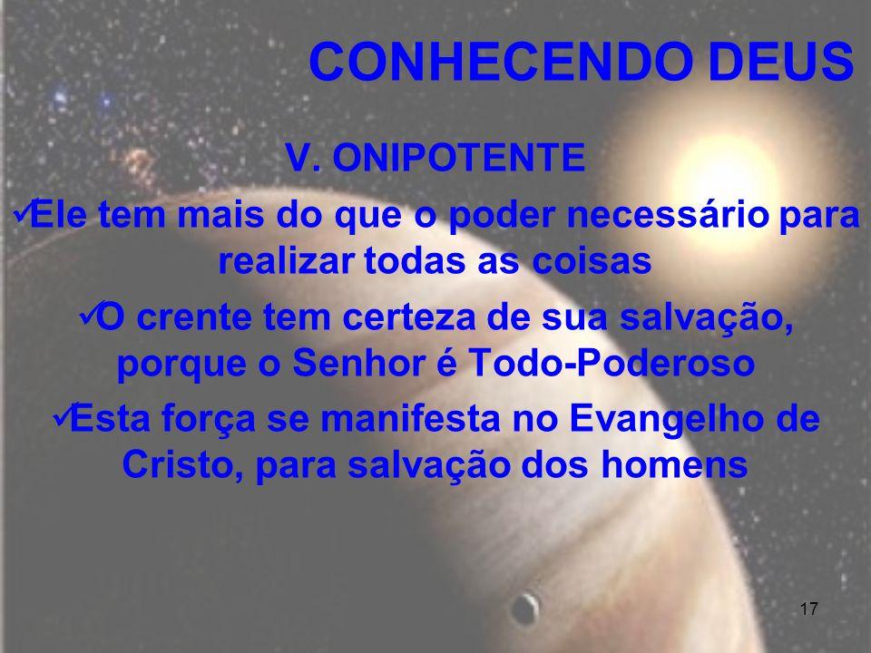 CONHECENDO DEUS V. ONIPOTENTE