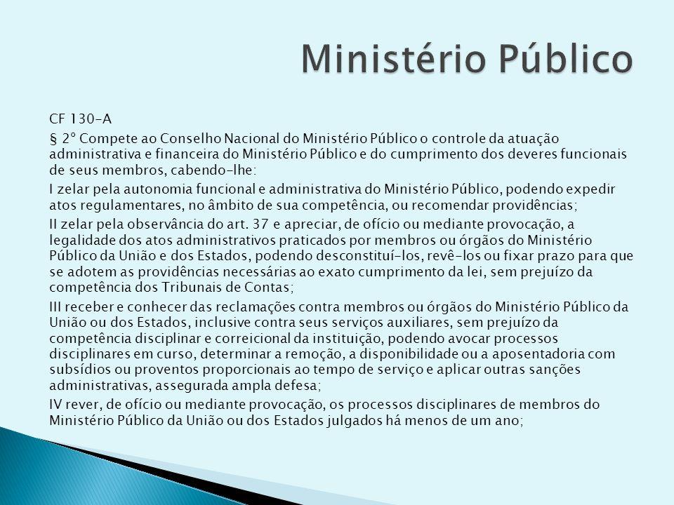 Ministério Público CF 130-A