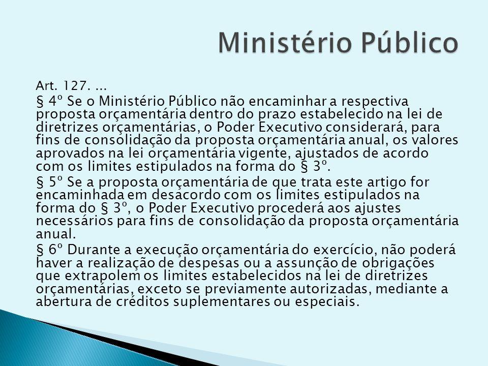 Ministério Público Art. 127. ...