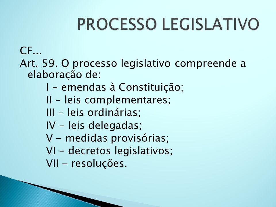 PROCESSO LEGISLATIVO CF...