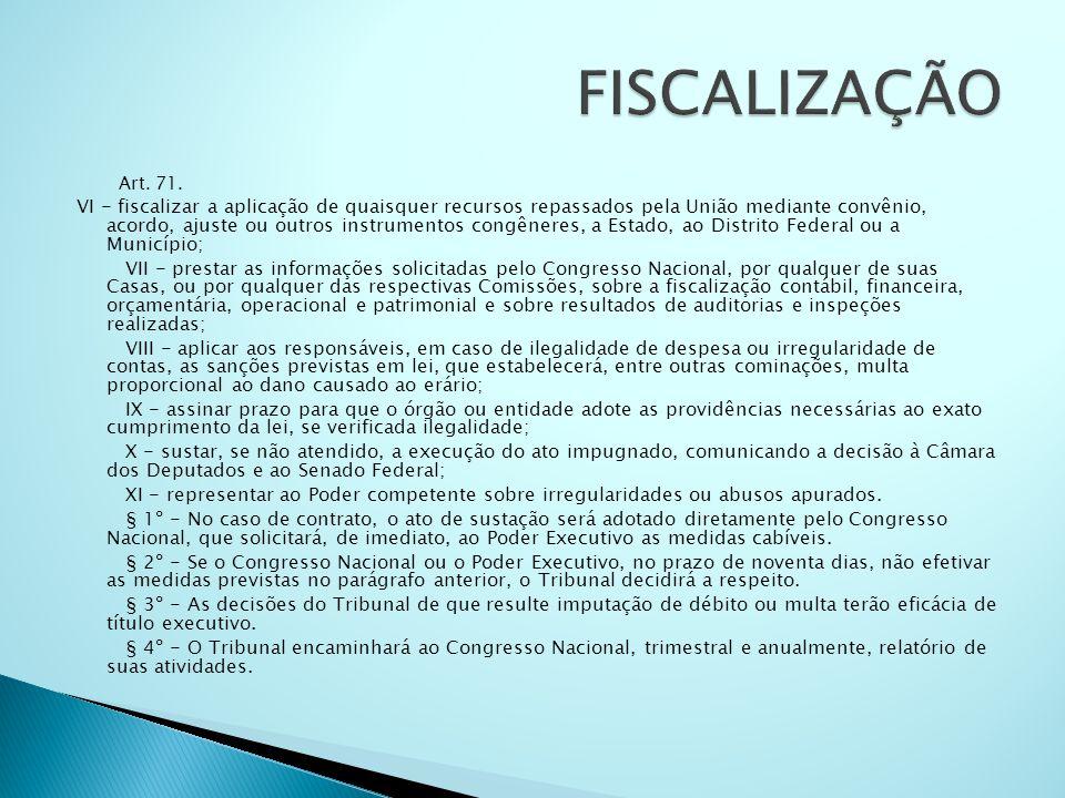 FISCALIZAÇÃO Art. 71.