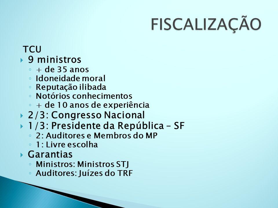 FISCALIZAÇÃO 9 ministros 2/3: Congresso Nacional