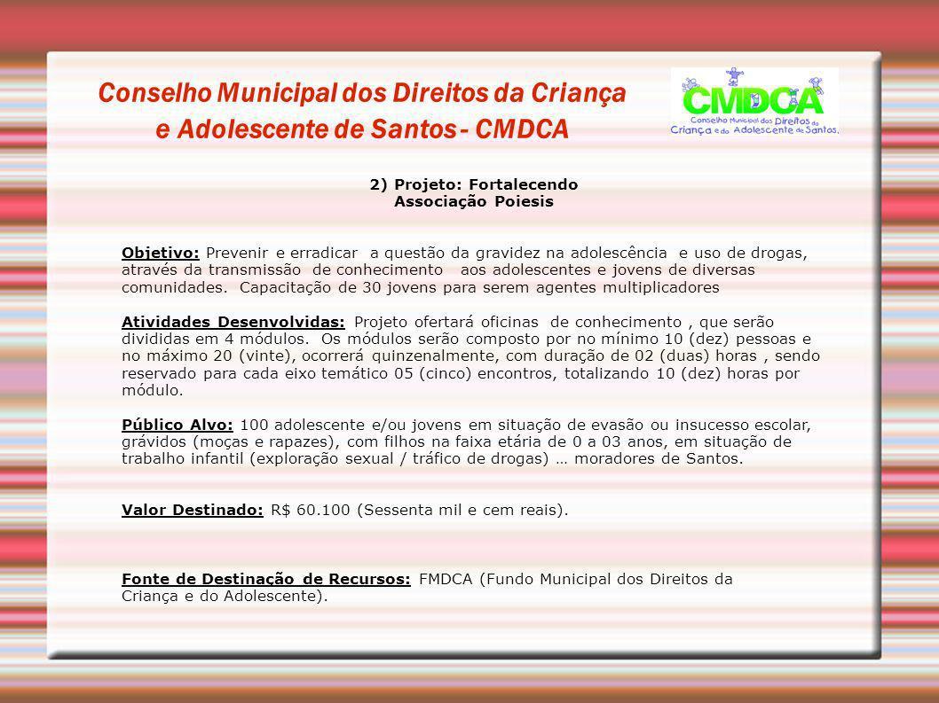2) Projeto: Fortalecendo