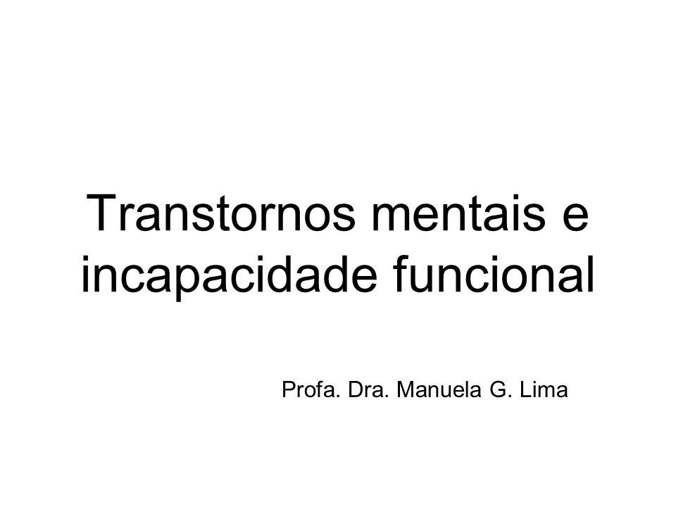 Transtornos mentais e incapacidade funcional