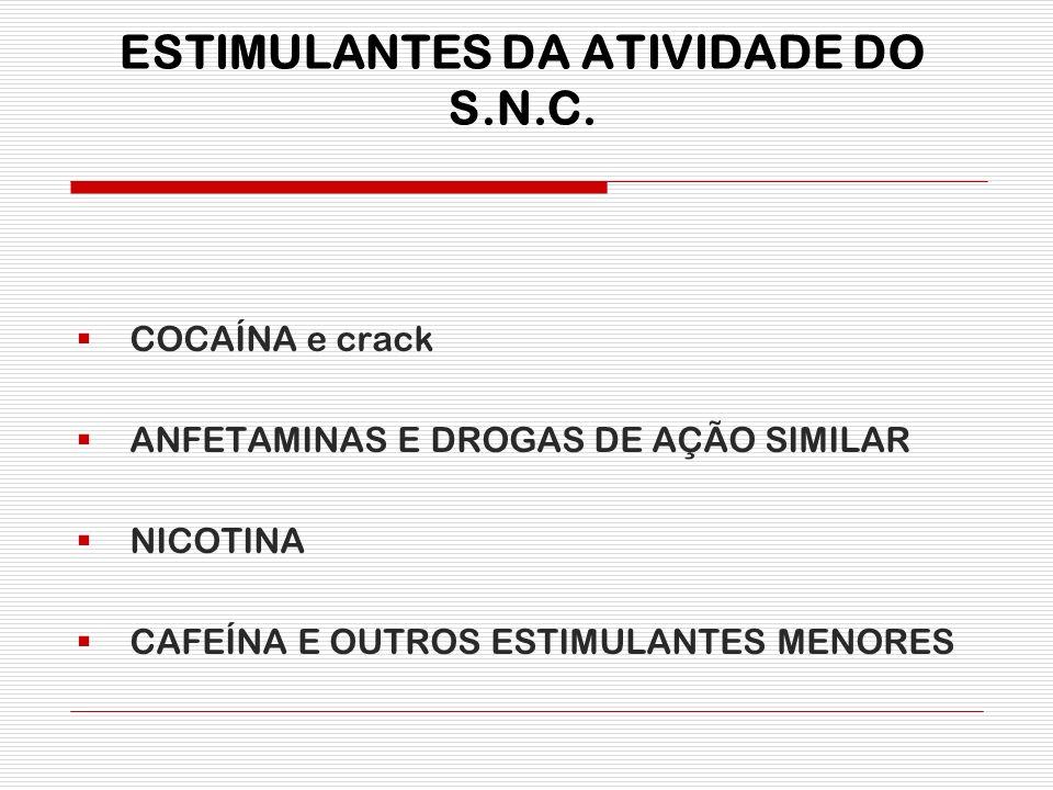 ESTIMULANTES DA ATIVIDADE DO S.N.C.