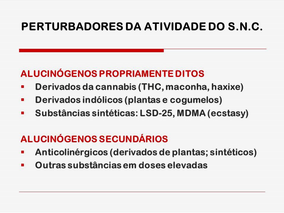 PERTURBADORES DA ATIVIDADE DO S.N.C.
