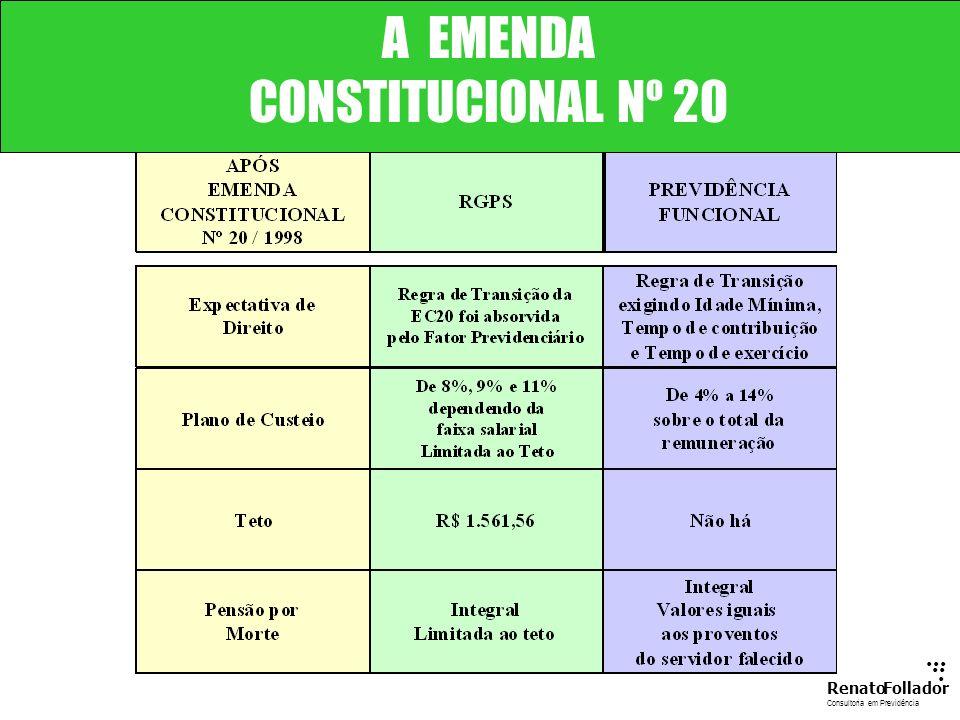 A EMENDA CONSTITUCIONAL Nº 20 ... .. .