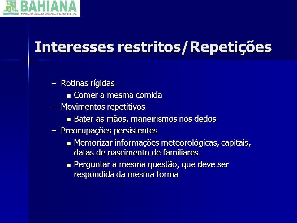 Interesses restritos/Repetições