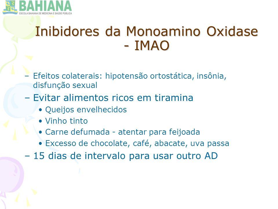 Inibidores da Monoamino Oxidase - IMAO