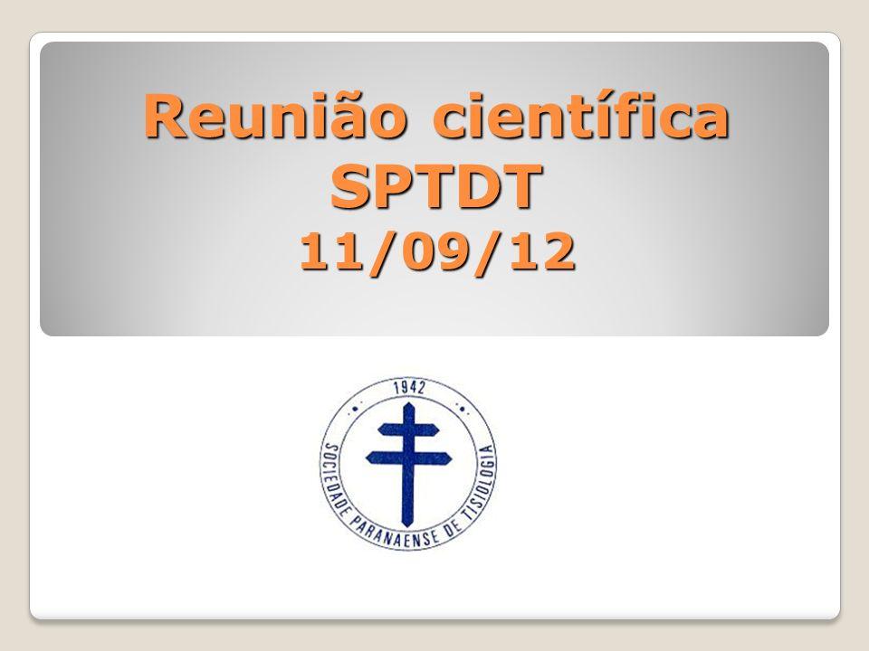Reunião científica SPTDT 11/09/12