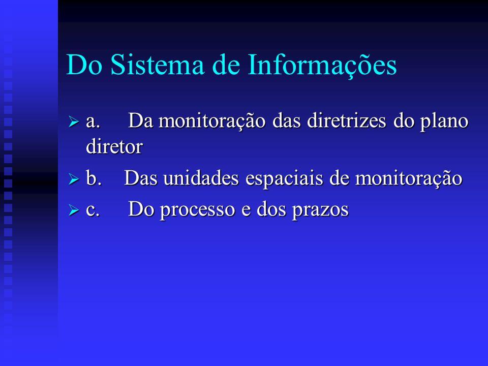 Do Sistema de Informações