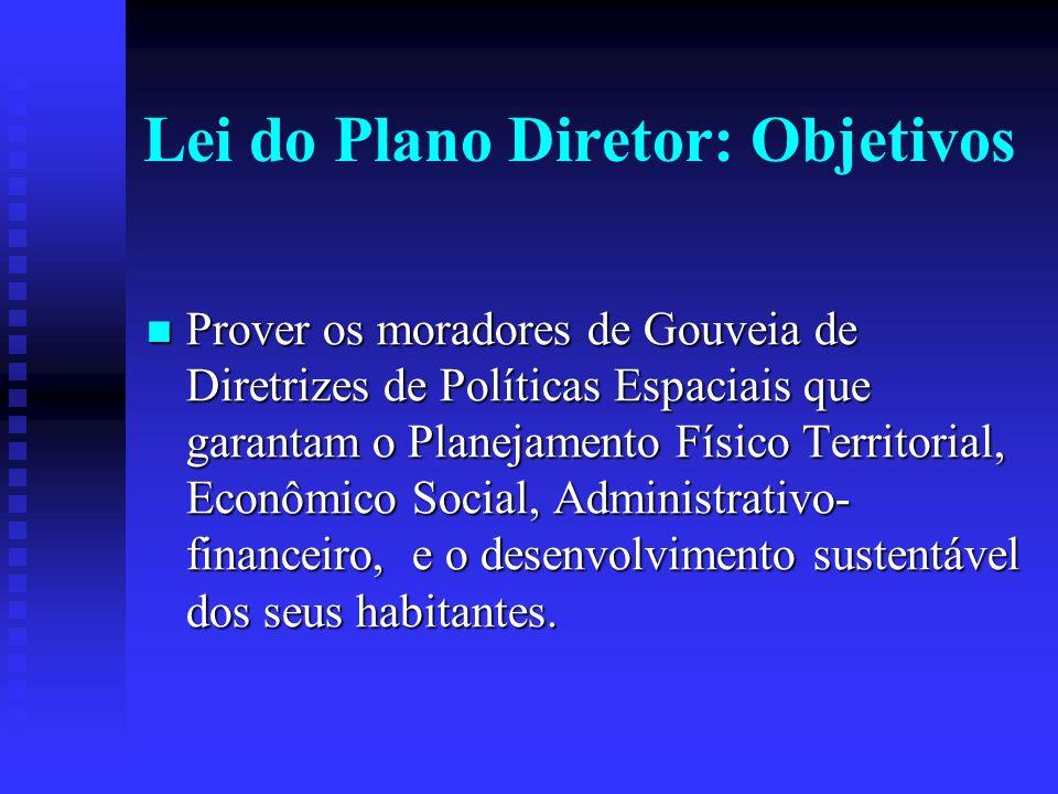 Lei do Plano Diretor: Objetivos
