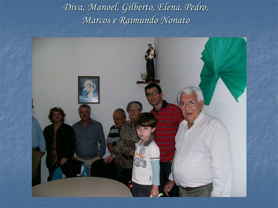 Diva, Manoel, Gilberto, Elena, Pedro, Marcos e Raimundo Nonato