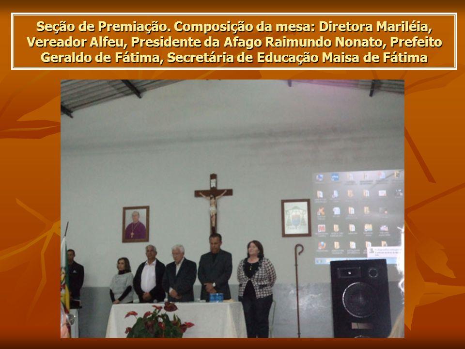 Seção de Premiação.