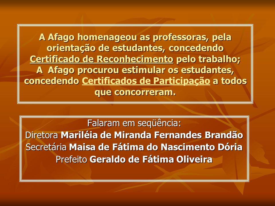 Diretora Mariléia de Miranda Fernandes Brandão