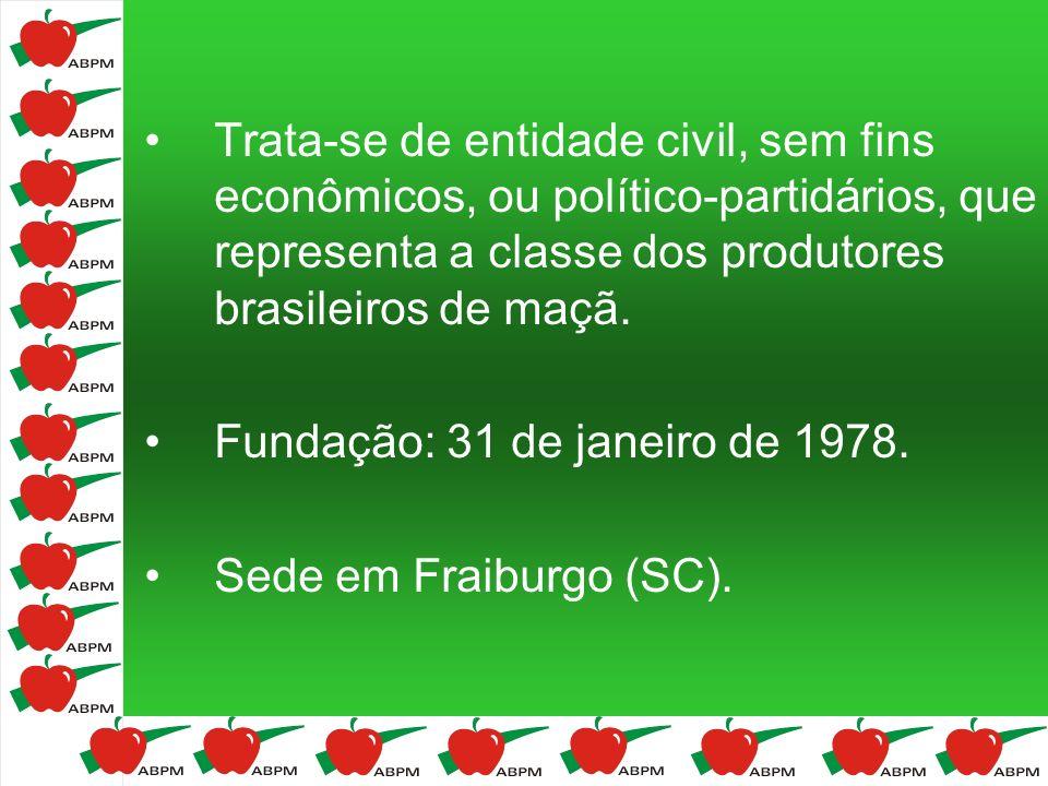 Trata-se de entidade civil, sem fins econômicos, ou político-partidários, que representa a classe dos produtores brasileiros de maçã.