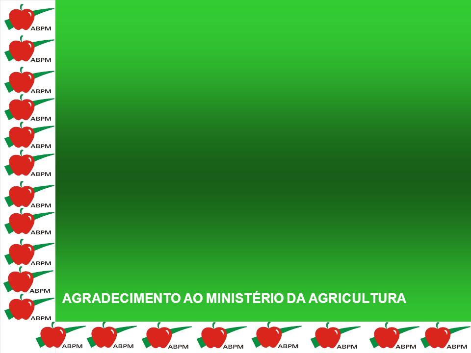 AGRADECIMENTO AO MINISTÉRIO DA AGRICULTURA