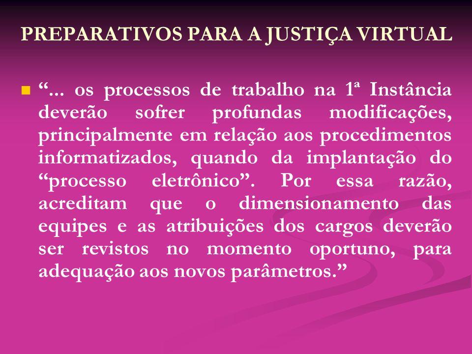 PREPARATIVOS PARA A JUSTIÇA VIRTUAL