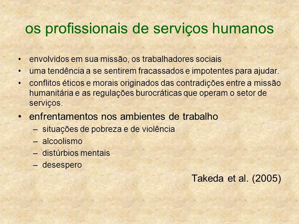 os profissionais de serviços humanos