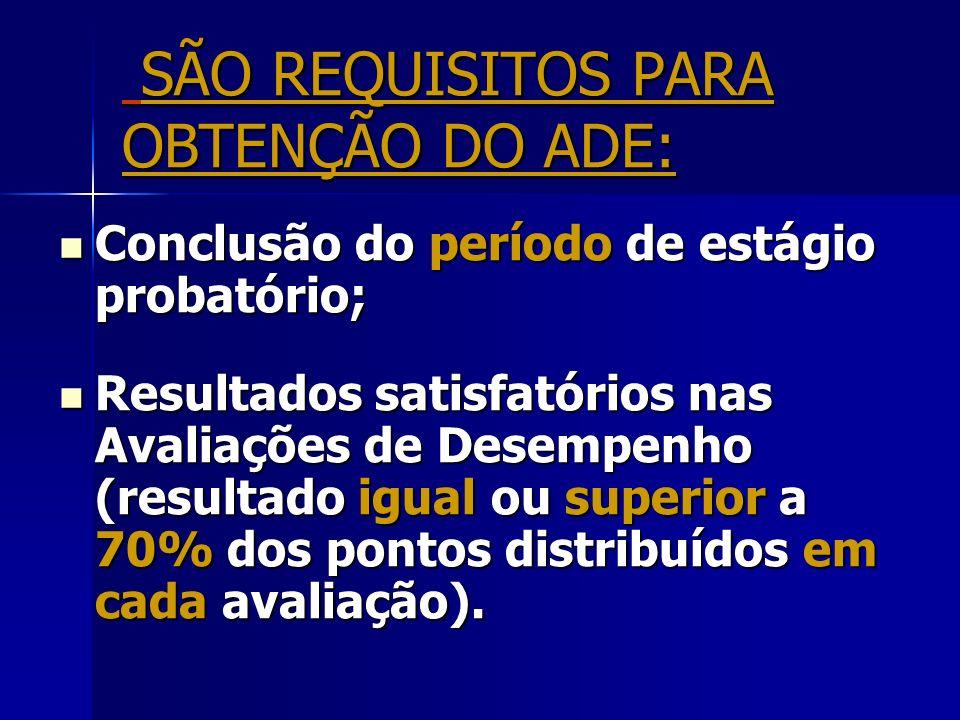 SÃO REQUISITOS PARA OBTENÇÃO DO ADE: