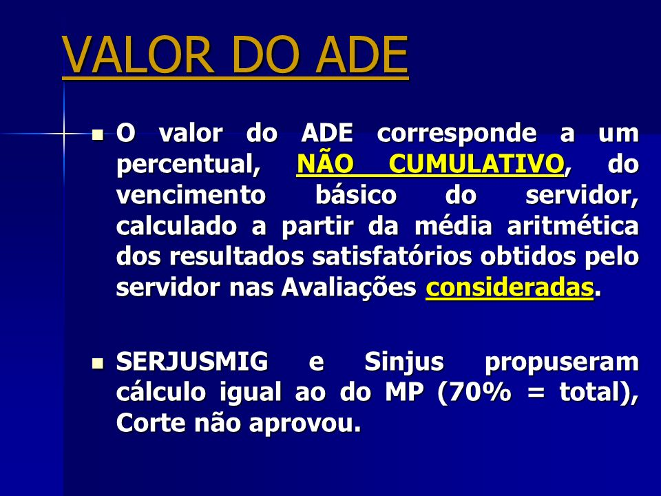 VALOR DO ADE