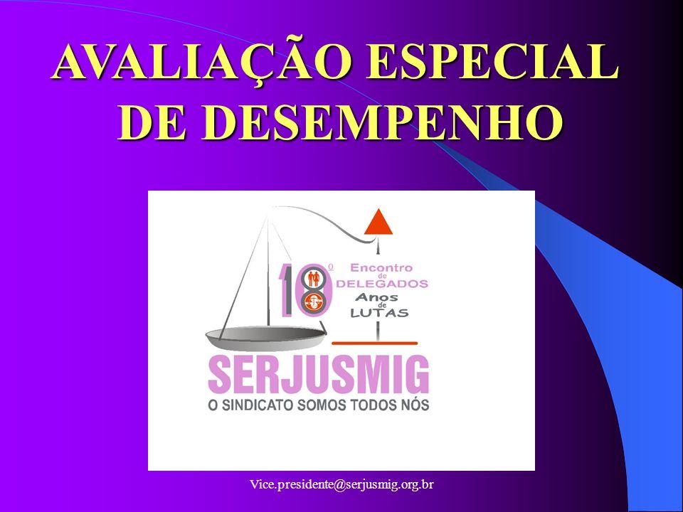 AVALIAÇÃO ESPECIAL DE DESEMPENHO