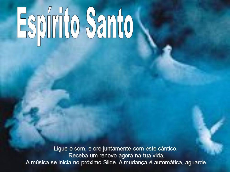 Espírito Santo Ligue o som, e ore juntamente com este cântico.