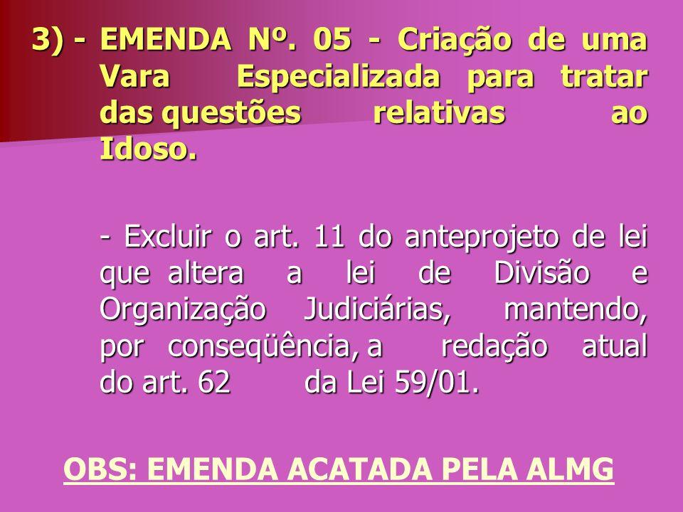 OBS: EMENDA ACATADA PELA ALMG