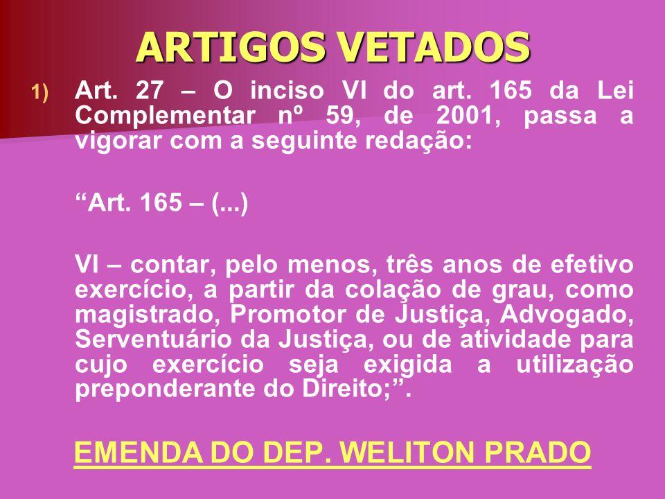 EMENDA DO DEP. WELITON PRADO