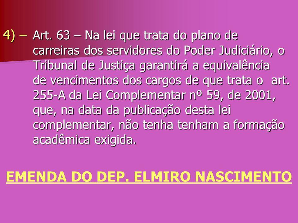 EMENDA DO DEP. ELMIRO NASCIMENTO