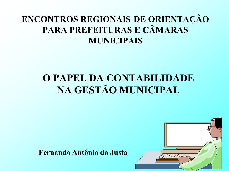 O PAPEL DA CONTABILIDADE NA GESTÃO MUNICIPAL