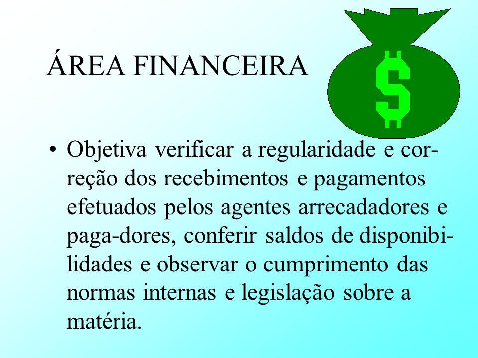 ÁREA FINANCEIRA